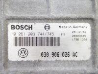 VW Polo 6N 6N1 1.0 AEV Motorsteuergerät Steuergerät 030906026AC 0261203744/745